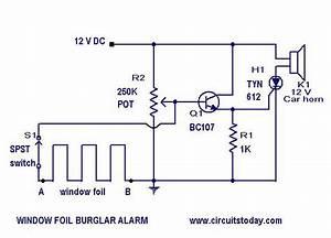 Burglar Alarm Circuit And Projects