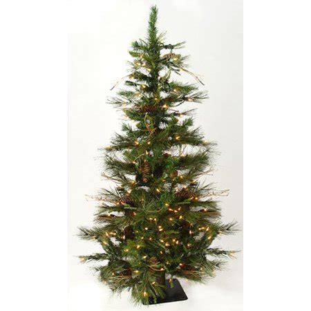 ashland pre lit windham spruce 4 pre lit ashland fir artificial tree w pine cones clear lights walmart