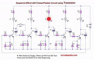 Led Flasher Chaser Circuit With Or Without Ic