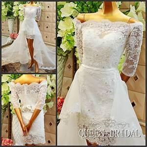 aliexpresscom buy a line short wedding dress with With wedding dresses with removable skirts