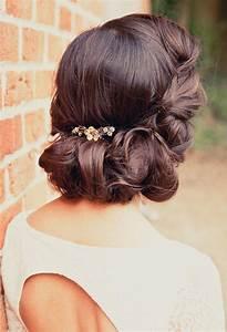 Chignon Cheveux Mi Long : coiffure mariage cheveux longs et mi longs en 60 id es ~ Melissatoandfro.com Idées de Décoration