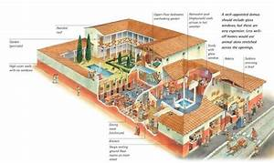 Cutaway Illustration Of A Domus And Its Tabernae