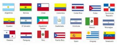 free spanish speaking flags coloring pages spanish speaking countries