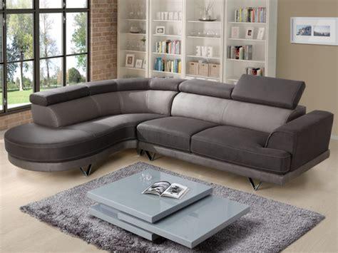 canapé d angle bicolore canapé d 39 angle tissu bicolore taupe clair et foncé penza