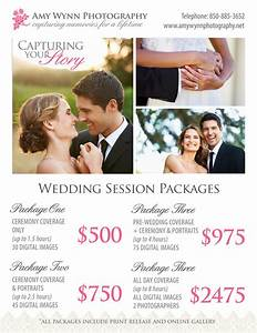 Wedding photography price sheet templates on creative market for Best wedding photography packages