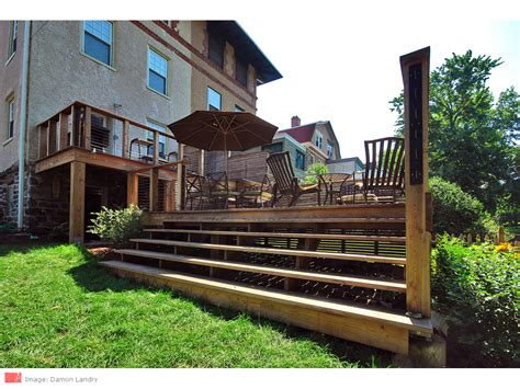Deck Mt Airy by Mt Airy Two Level Deck Myers Constructs Inc