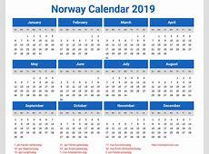 Norway Calendar 2019 printcalendarxyz