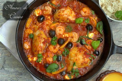 recette de cuisine avec des crevettes plat méditerranéen au poulet et crevettes amour de cuisine
