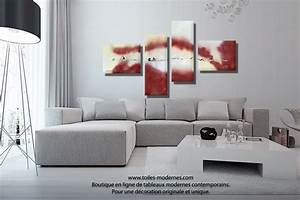 tableau salon decoration ciabizcom With delightful couleur moderne pour salon 3 paysage de couleurs tableau abstrait artwall and co