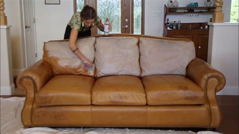 Leather Settee Repair by Leather Sofa Stain Repairing A Stain On Leather