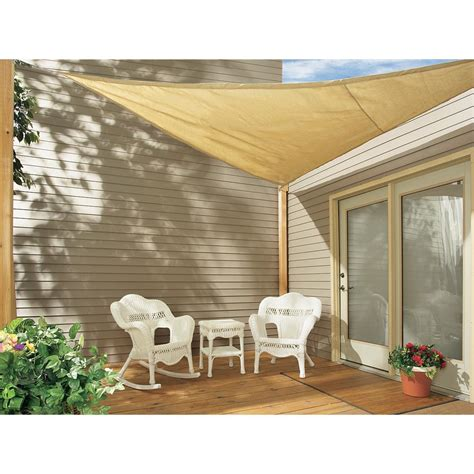 16 coolaroo 174 triangle shade sail kit 101853 patio