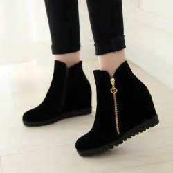 womens boots express 2016 fashion winter ankle boots wedges boots design zip toe