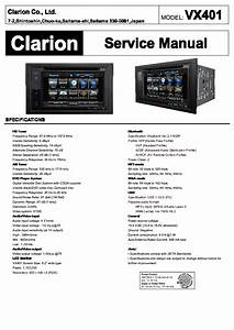 Clarion Vx401 Service Manual Download  Schematics  Eeprom