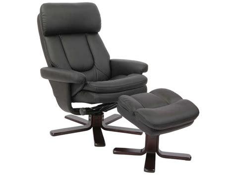 monsieur meuble canapé fauteuil relaxation repose pieds charles coloris noir en