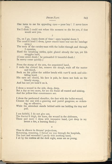 walt whitman the wound dresser poem analysis the wound dresser leaves of grass 1891 92 the walt