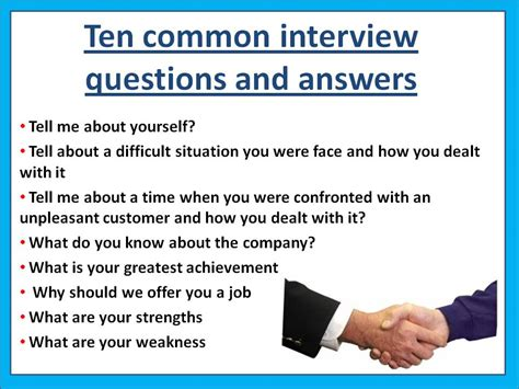 good questions to ask during a job interview how to get a job ten most common interview questions