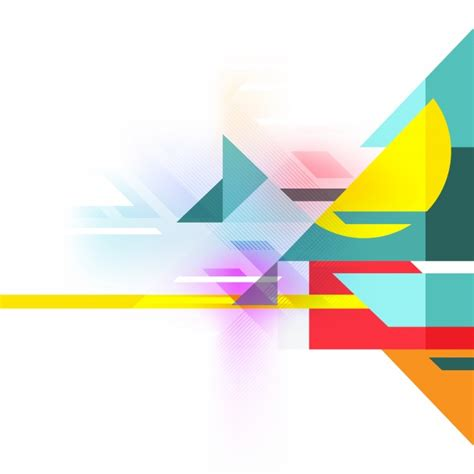 Shapes Background Multicolor Geometrical Shapes Background Vector Free