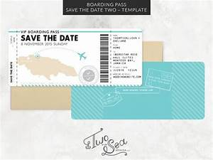 boarding pass save the date passport wedding invitation With save the date passport template