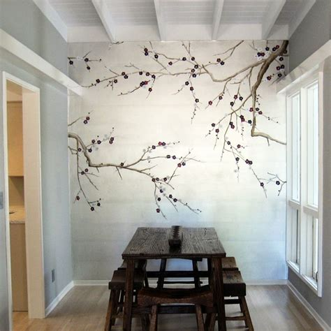 how to paint a mural on a bedroom wall 50 floral wallpaper and mural ideas your no 1 source of