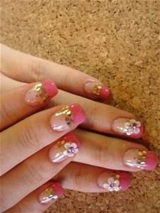 Hot Pink And Gold Nail Design | Joy Studio Design Gallery ...