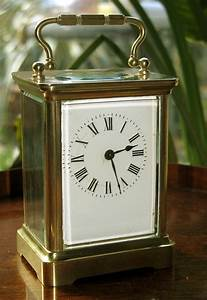Clocks, An, Attractive, Brass, Carriage, Clock, Marked, Acc, For, Sale