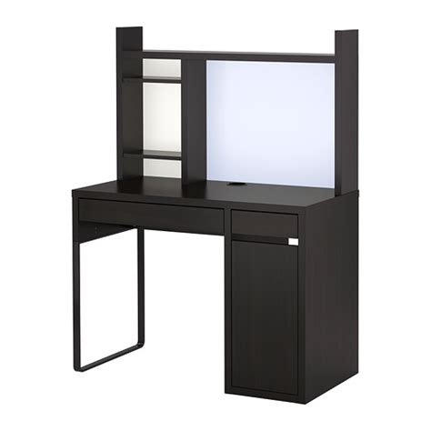bureau ikea micke micke workstation black brown ikea