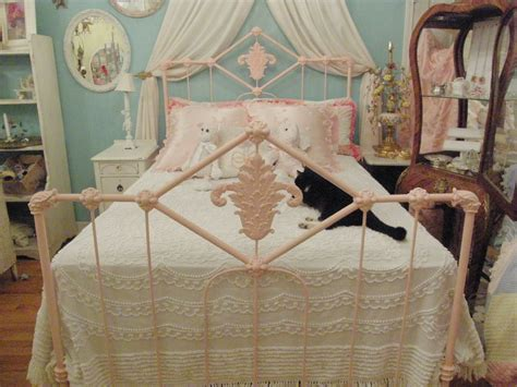 Shabby Chic Antique Bed Frame Pink Wrought Iron Full Double Jacksonville Antique Show Cameo Earrings Stores In Boise Idaho Mirror Picture Frames Venetian Chandelier Sterling Silver Jewelry Carriage Lights Hair Accessories