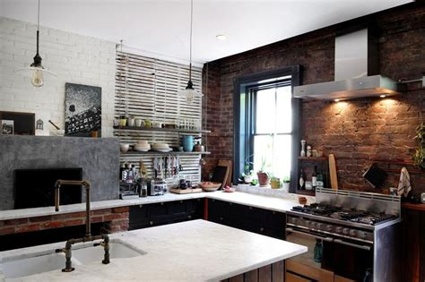 Kitchen Counter Tile Ideas - 47 brick kitchen design ideas tile backsplash accent walls designing idea