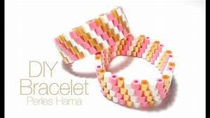 Comment Faire Un Bracelet En Perle : comment faire un bracelet avec des perles repasser hama youtube ~ Melissatoandfro.com Idées de Décoration