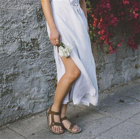 Wearing Teva Sandals