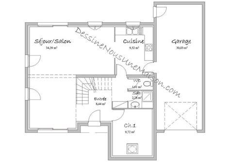 plan maison rdc 3 chambres plans de maisons individuelles avec 4 chambres
