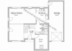 plans de maisons individuelles avec 4 chambres With plan maison mezzanine gratuit