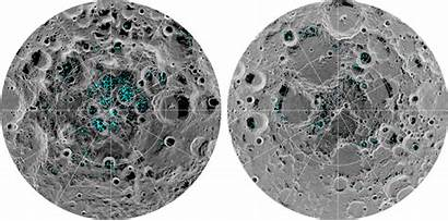 Moon Ice Nasa Map Lunar Water Craters
