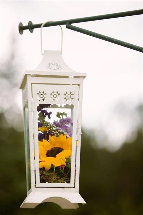 Ceremony decor Lantern Sunflowers Lanterns with