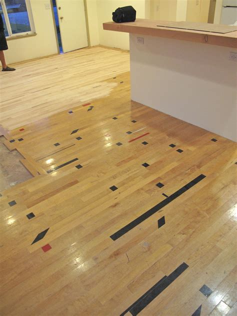 Recycle Maple Gym Wood Floor Install Refinish Bellingham