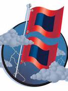Hurricane Warning Flag Of hurricane warning flags  Hurricane Warning Clip Art