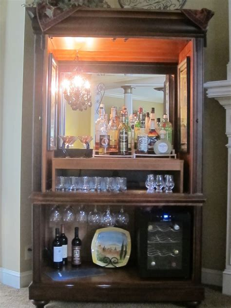 convert tv cabinet to play kitchen convert an armoire into a bar just b cause 9457