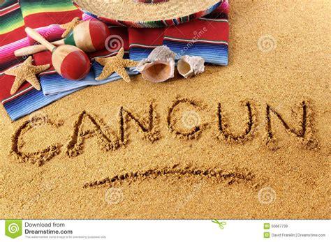 Cancun Beach Writing Stock Photo - Image: 50667739