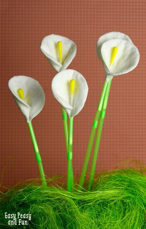 Cotton Round And Q Tip Calla Lily Flowers Easy Peasy And Fun