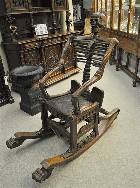 foto de A skeleton rocking chair from the Estate of Vincent Price