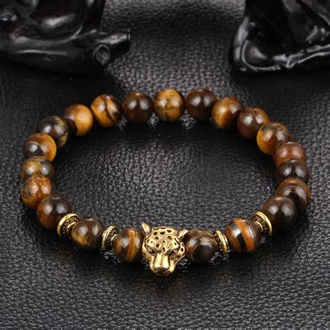 Xinyao Dropship Gold Leopard Head Tiger Eye Bead