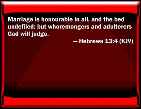 bible verse powerpoint slides for hebrews 13 4