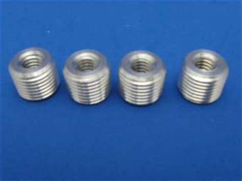 set of 4 gear shift knob thread adapter nut reducer insert od 16mm id 3 8 24 ebay