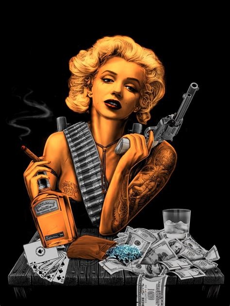 Marilyn Monroe Wallpaper Hd Marilyn Monroe Gangster By Pave65 On Deviantart