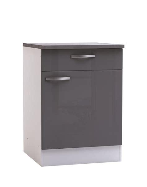 cuisine meubles gris meuble bas de cuisine contemporain 1 porte 1 tiroir blanc
