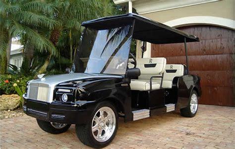 Rolls Royce Golf Cart by Custom Rolls Royce Golf Cart Shines In Florida