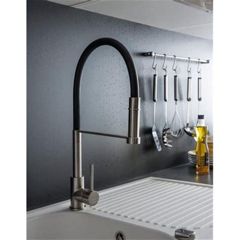 robinet de cuisine noir robinet douchette extractible mitigeur pour évier de