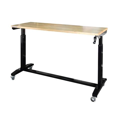 home depot work bench husky 62 in x 24 in d work table black holt62xdb11