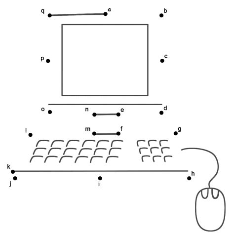 computer parts worksheets  kindergarten  images