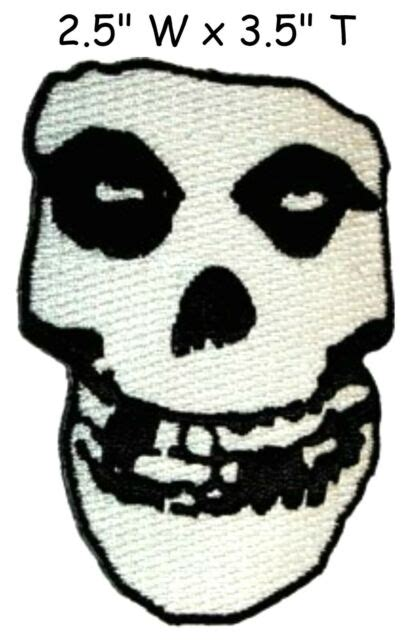 MISFITS - SKULL LOGO - EMBROIDERED PATCH - BRAND NEW ...